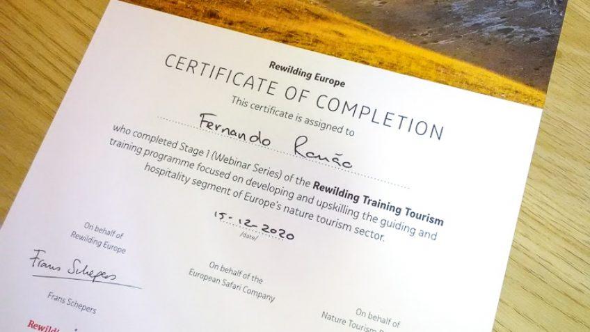 Rewilding Training for Tourism
