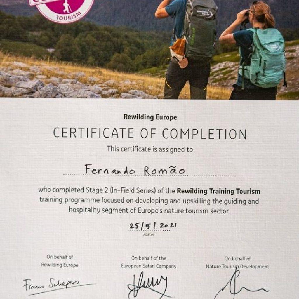 Rewilding certification