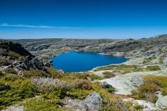 Mountain lake at Estrela Mountain Natural Park, Portugal