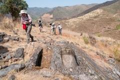 Medieval graves at Alpajares Causeway