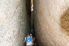 Giant crack in the granite